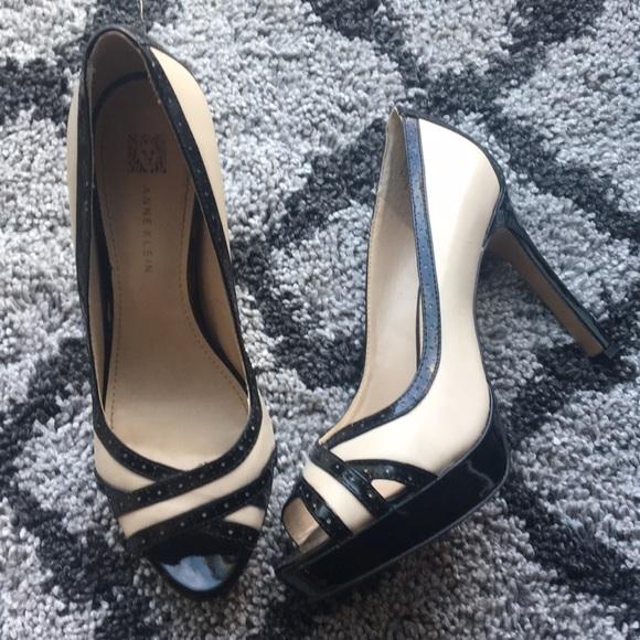 Cream Peep Toe Heels
